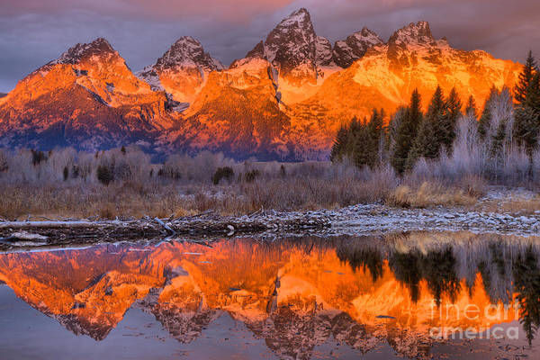 Photograph - Fiery Morning At The Snake River by Adam Jewell