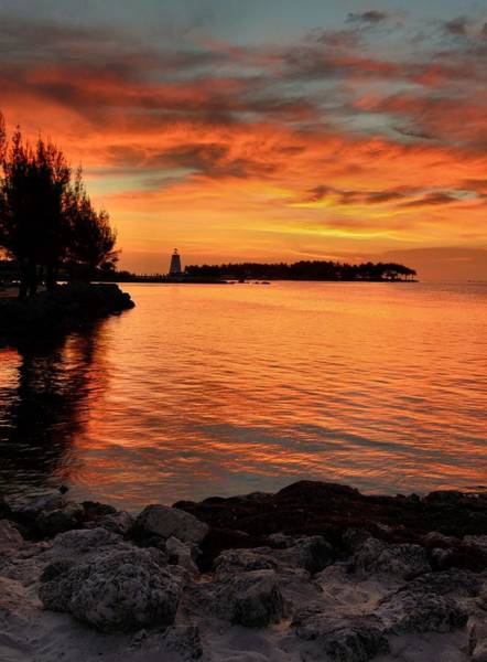 Wall Art - Photograph - Fiery Sunset Reflections by Stephen  Vecchiotti