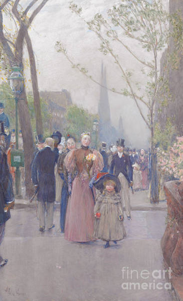 Victorian Era Painting - Fifth Avenue by Childe Hassam