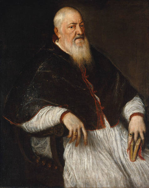 Painting - Filippo Archinto, Archbishop Of Milan by Titian