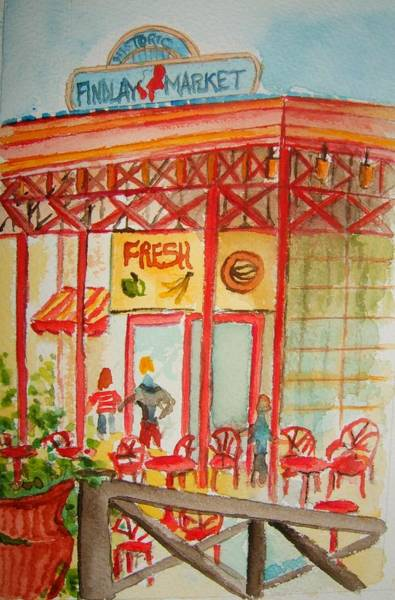 Wall Art - Painting - Findlay Market by Elaine Duras