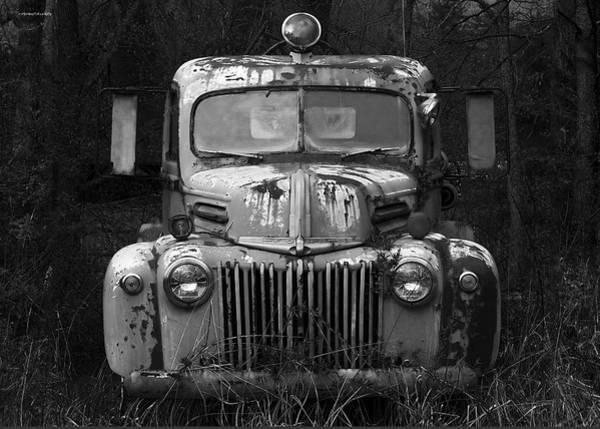 Vintage Fire Truck Photograph - Fire Truck by Ron Jones