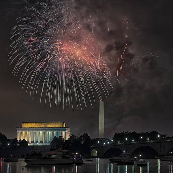 Potomac River Photograph - Fireworks by Robert Fawcett