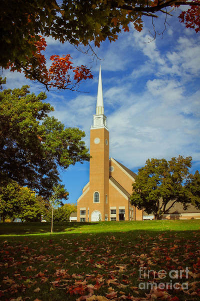 Photograph - First Congregational Church by Viviana Nadowski