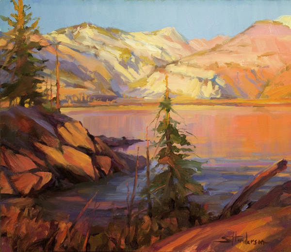 Lake Shore Wall Art - Painting - First Light by Steve Henderson