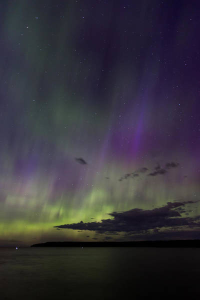 Photograph - Fish Creek Marina Northern Lights by Paul Schultz
