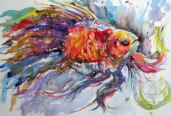 Wild Life Painting - Fish by Kovacs Anna Brigitta