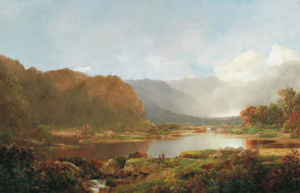 Wall Art - Painting - Fishermen In The Adirondacks by William Louis Sonntag