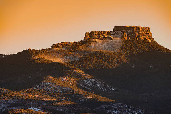 Photograph - Fisher's Peak Sunset by TM Schultze