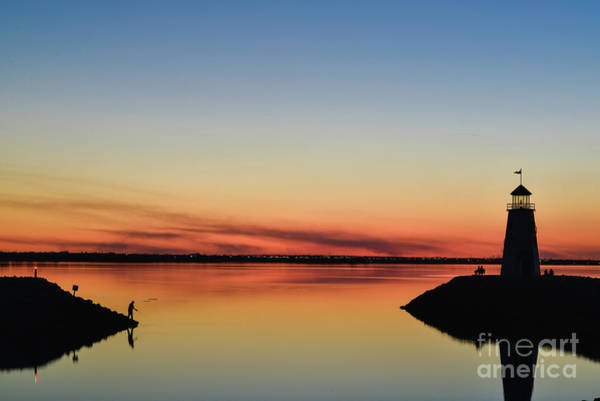 Photograph - Fishing At Sunset by Paul Quinn