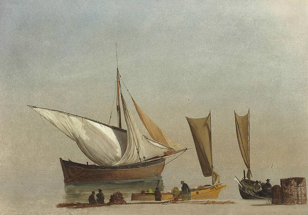 Painting - Fishing Boats by Albert Bierstadt