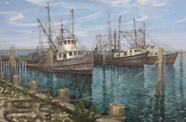 Painting - Fishing Boats by Gary M Long
