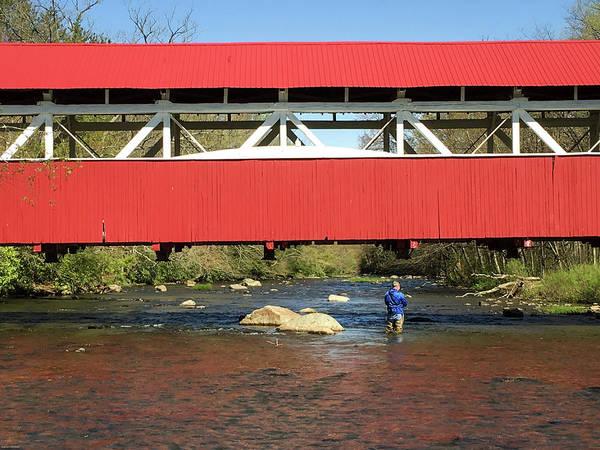 Laurel Hill Creek Photograph - Fishing Bridge by Aaron Geraud