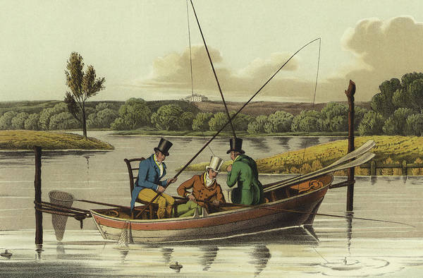 Wall Art - Painting - Fishing In A Punt  by Henry Thomas Alken