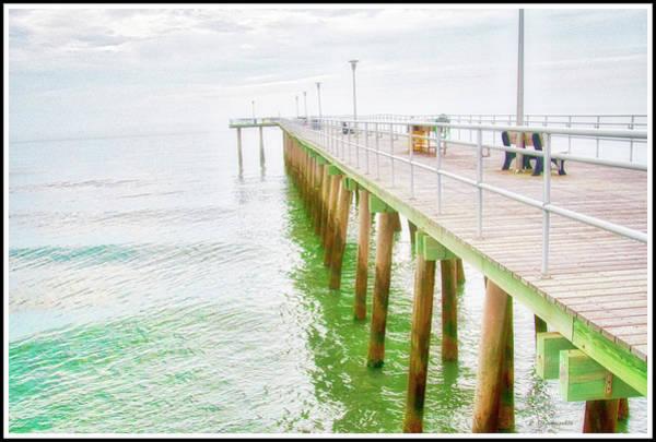 Fishing Pier, Margate, New Jersey Art Print