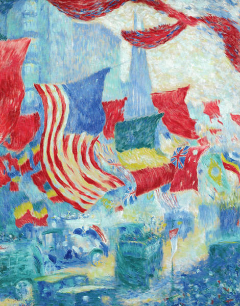 Avenue Of The Americas Painting - Flag Day by Theodore Earl Butler