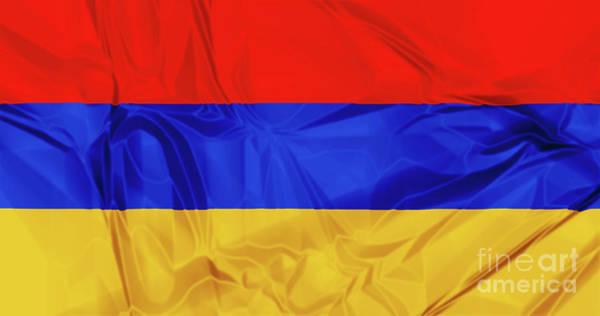 Digital Art - Flag Of Armenia by Benny Marty