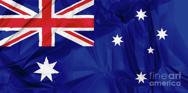 Digital Art - Flag Of Australia by Benny Marty