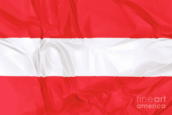 Digital Art - Flag Of Austria by Benny Marty