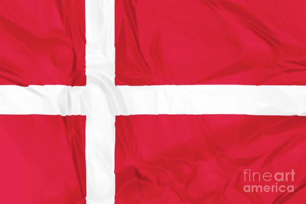 Digital Art - Flag Of Denmark by Benny Marty