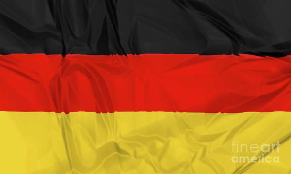 Digital Art - Flag Of Germany Waving by Benny Marty
