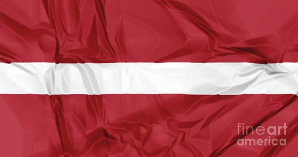 Digital Art - Flag Of Latvia by Benny Marty