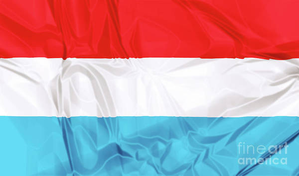 Digital Art - Flag Of Luxembourg by Benny Marty