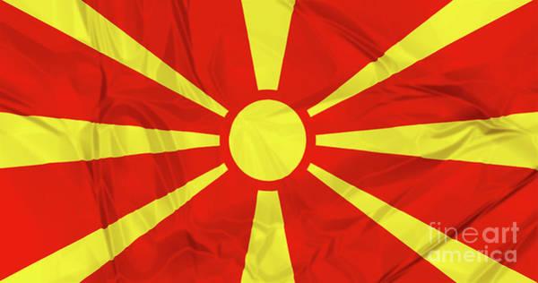 Digital Art - Flag Of Macedonia by Benny Marty