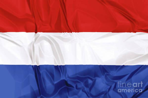 Digital Art - Flag Of Netherlands by Benny Marty