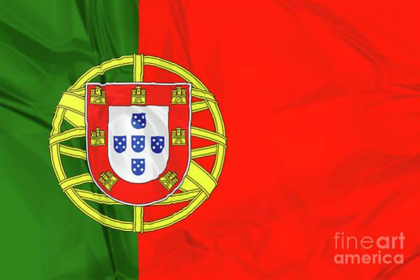 Digital Art - Flag Of Portugal by Benny Marty