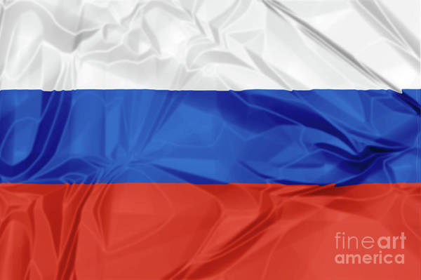 Digital Art - Flag Of Russia by Benny Marty