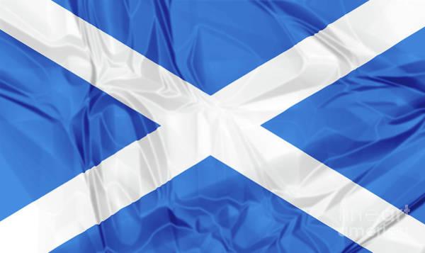 Digital Art - Flag Of Scotland by Benny Marty