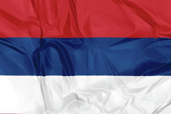 Digital Art - Flag Of Serbia by Benny Marty