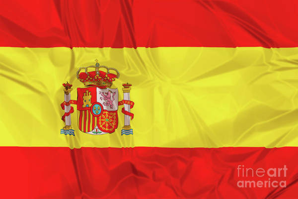 Digital Art - Flag Of Spain by Benny Marty