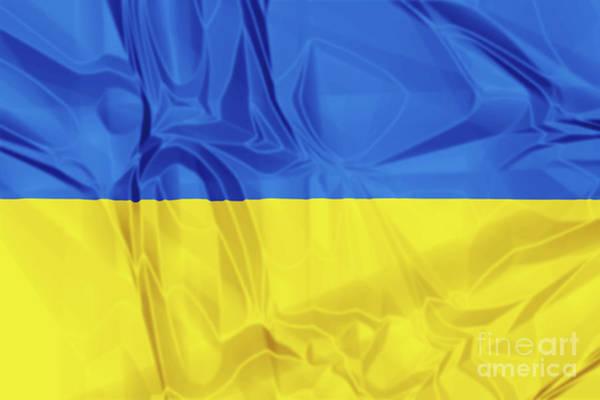 Digital Art - Flag Of Ukraine by Benny Marty