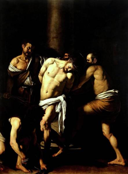 Painting - Flagellation Of Christ by Troy Caperton