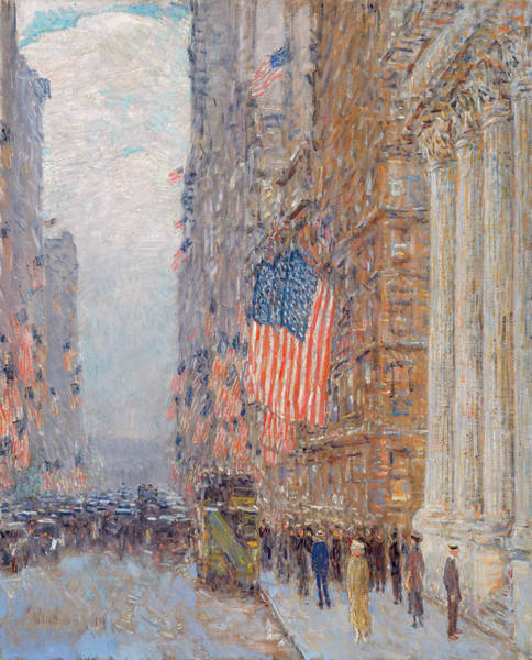 Wall Art - Painting - Flags On The Waldorf by Childe Hassam