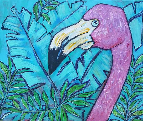 Wall Art - Painting - Flamingo  by Arrin Burgand