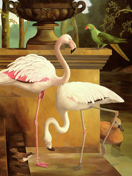 Flamingo Watercolor Painting - Flamingos by Lizzie Riches