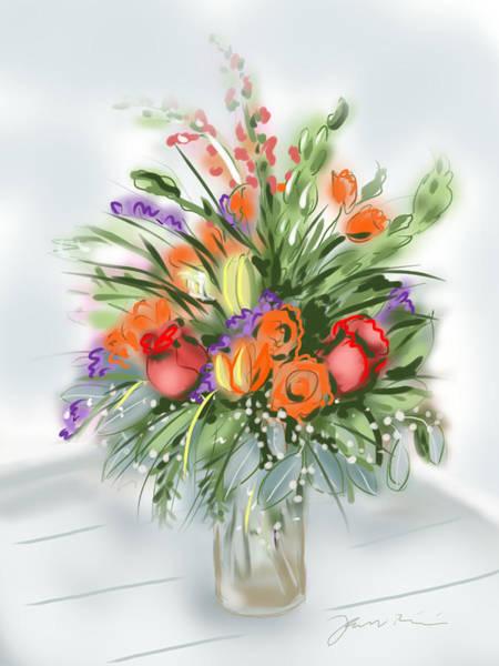 Digital Art - Fleurs Pour Moi by Jean Pacheco Ravinski