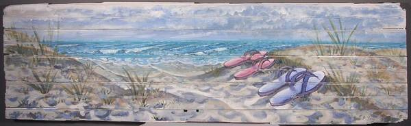 Painting - Flip- Flops by Gary M Long