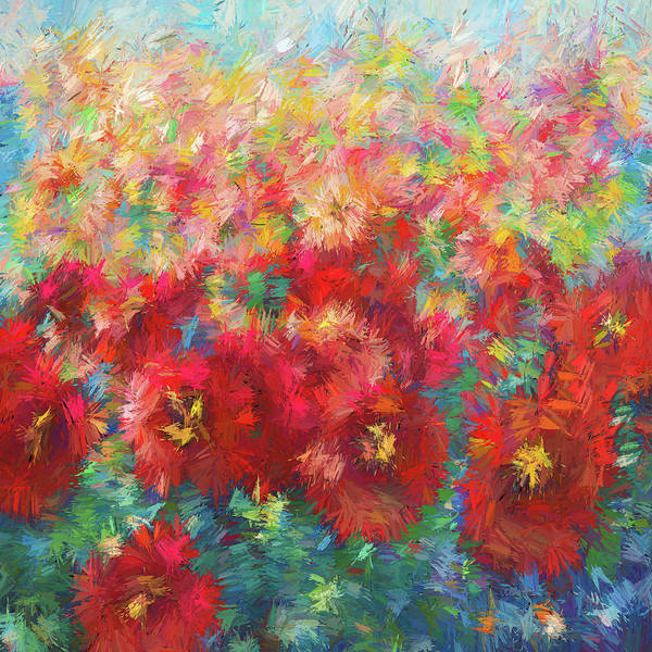Painting - Floral Abstract by OLena Art - Lena Owens