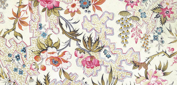 Wild Flowers Drawing - Floral Design by William Kilburn