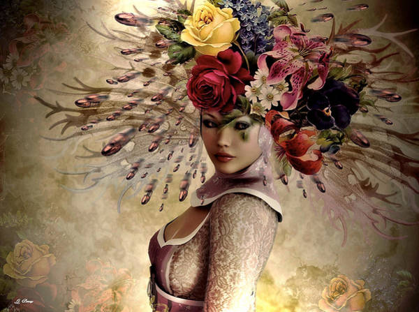 Decorating Mixed Media - Floral Fashion by G Berry