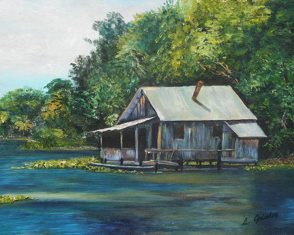 Wall Art - Painting - Florida Fishing Shack by Lessandra Grimley