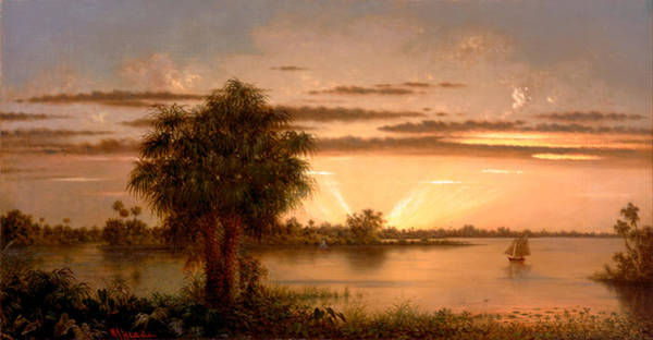Painting - Florida Sunrise by Martin Johnson Heade