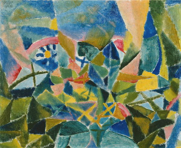 Wall Art - Painting - Flower Bed by Paul Klee