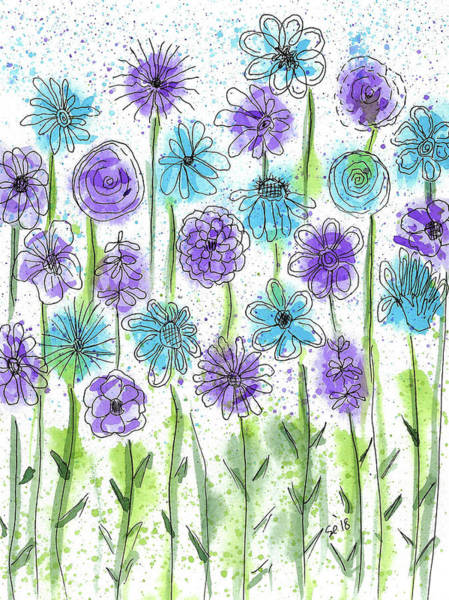 Painting - Flower Fantasy by Susan Campbell