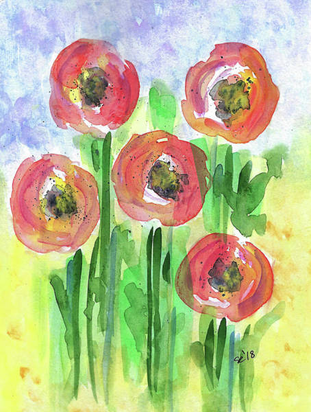 Painting - Flower Patch by Susan Campbell