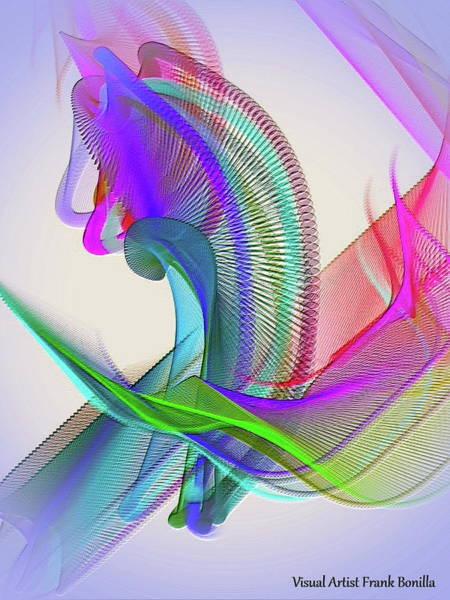 Digital Art - Flower Vase by Visual Artist Frank Bonilla